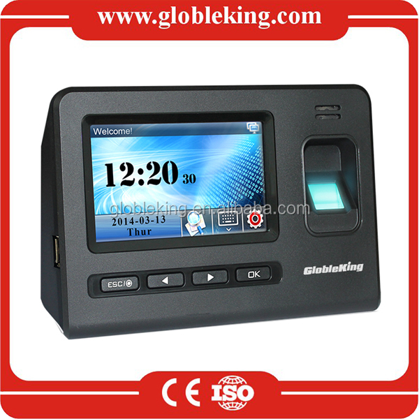 4.3 Touch Screen Standalone fingerprint employee attendance machine /fingerprint time attendance machine with RFID card