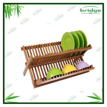 Water Resistant Bamboo Folding Dish Rack