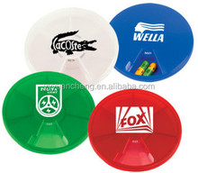 7 days round plastic pill box with low price for promotion