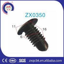 china auto clips fasteners/plastic rings auto floor mat