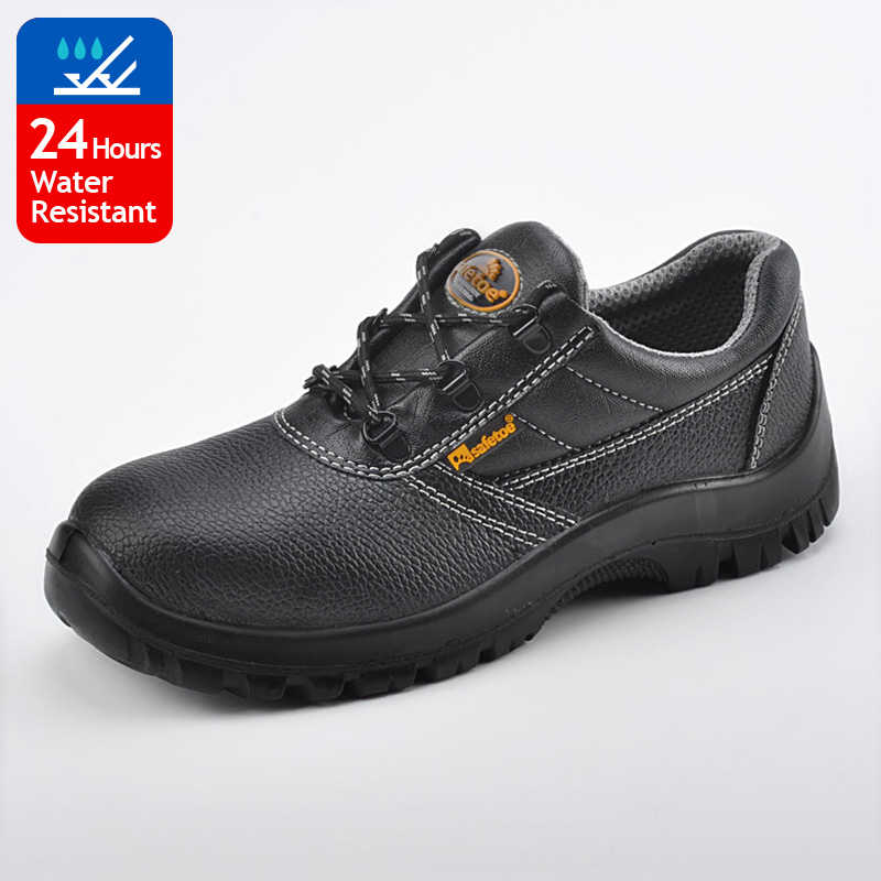 2017 best selling Safetoe brand embossed leather safety shoes