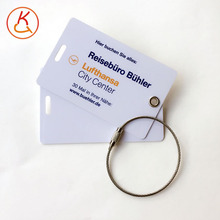 Customized personalised PVC/Plastic luggage membership card for Airlines,Travel Agency with pvc/metal strap