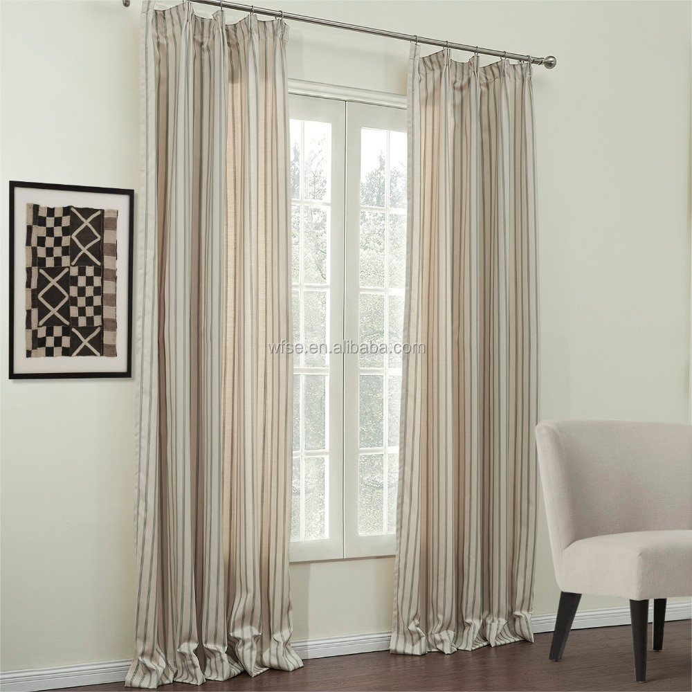 100% Polyester Solid Color Thermal Insulated Hotel Blackout Window Curtain Fabric Drapery