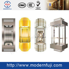 VVVF gearless glass scenic elevator lifts elevator design for building commercial usage panoramic lifts