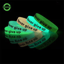 Wholesale personalized multicolor custom wrist band silicone light LED DIY silicone wristband for party