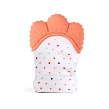 Amazon Hotsale Child Munch Mitts Silicone Teether Glove Toy Baby Teething Mitten for Baby TM03