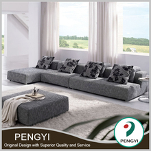 Professional Furniture Factory Guangdong Cheap living room furniture L Shaped fabric Sofa