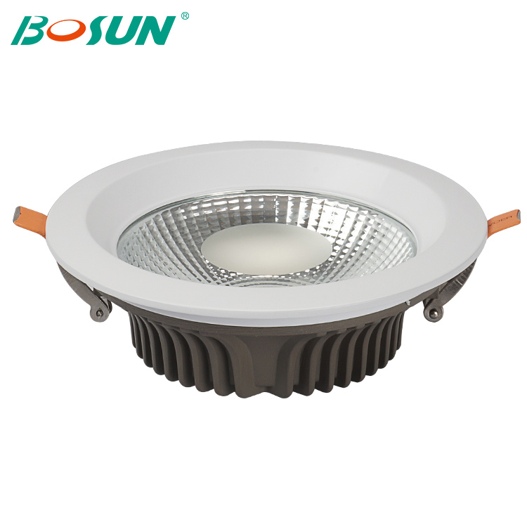 zhongshan led lighting CE ROHS SAA recessed round 5w 7w 10w 15w 20w 30w dimmable cob led downlight housing