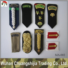 Wholesale embroidered officer epaulettes for military