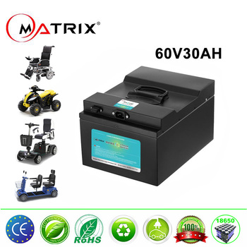 30ah li-ion battery pack 60 volt battery 60v lithium 18650 17s 12p for electric motorcycle scooter