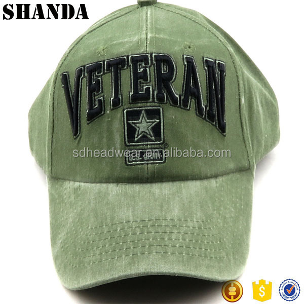 Wholesale Army USA Military Embroidery unique Baseball Cap Hat