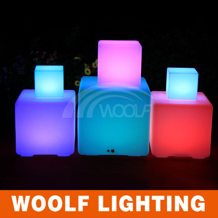 plastic waterproof led light up patio furniture