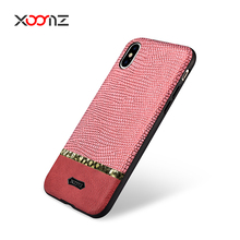 XOOMZ Splicing Shining PU Leather Case for iPhone 8