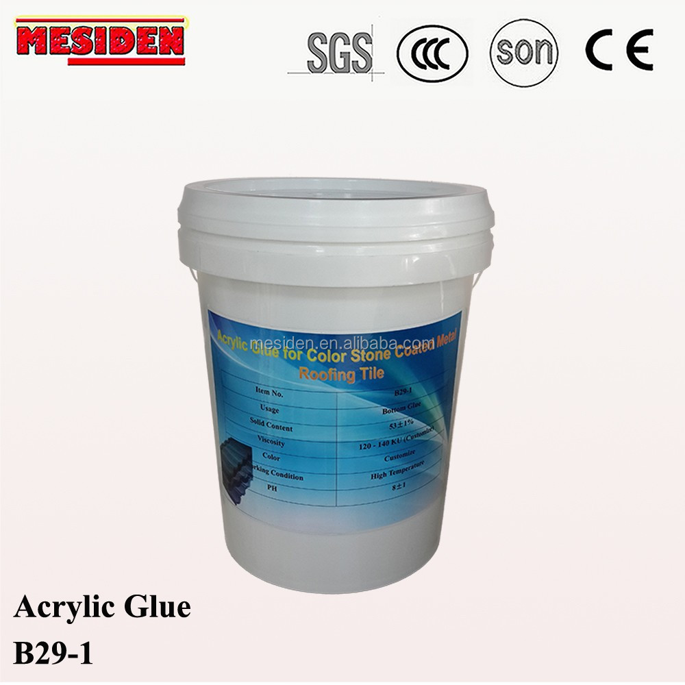 Best Quality Acrylic Bottom Glue for Roof Tiles