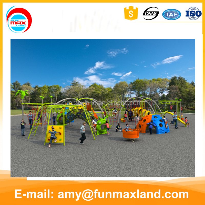 Factory Price play park kids outdoor playground equipment rope climbing structure
