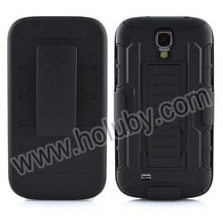 Belt Clip Holster & Stand Design Detachable Silicone+PC Hybrid Cover for Samsung Galaxy S4 2014 New China Supplied Case