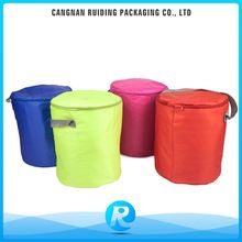 Promotional Personalized Custom Polyester Cylinder Cooler Bag