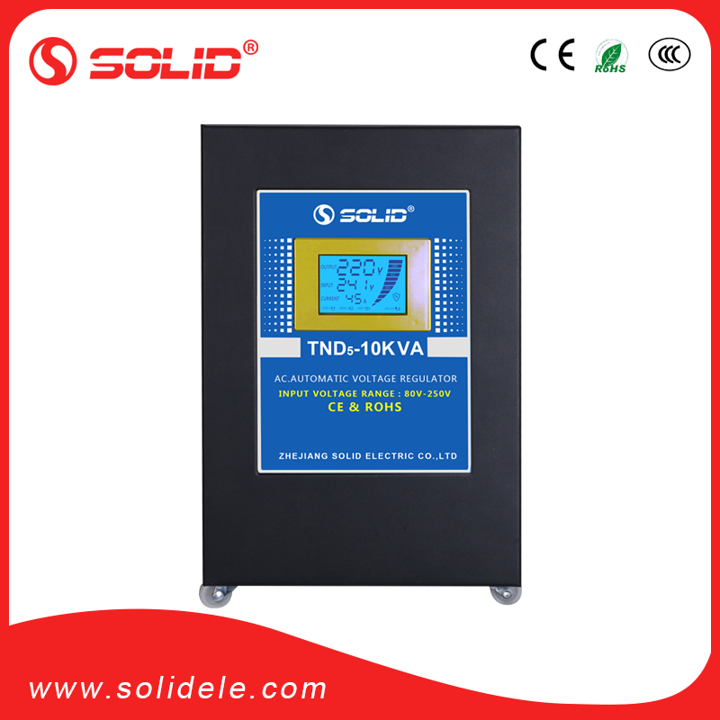 Solid electric 10kva bypass energy saving automatic voltage regulator