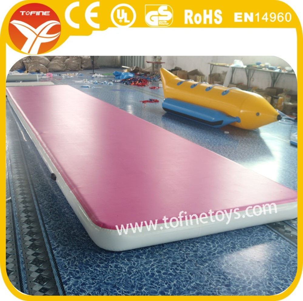 Pink Practice Gym Gymnastics Mats,Popular Gym Practice Equipment Inflatable Air Track