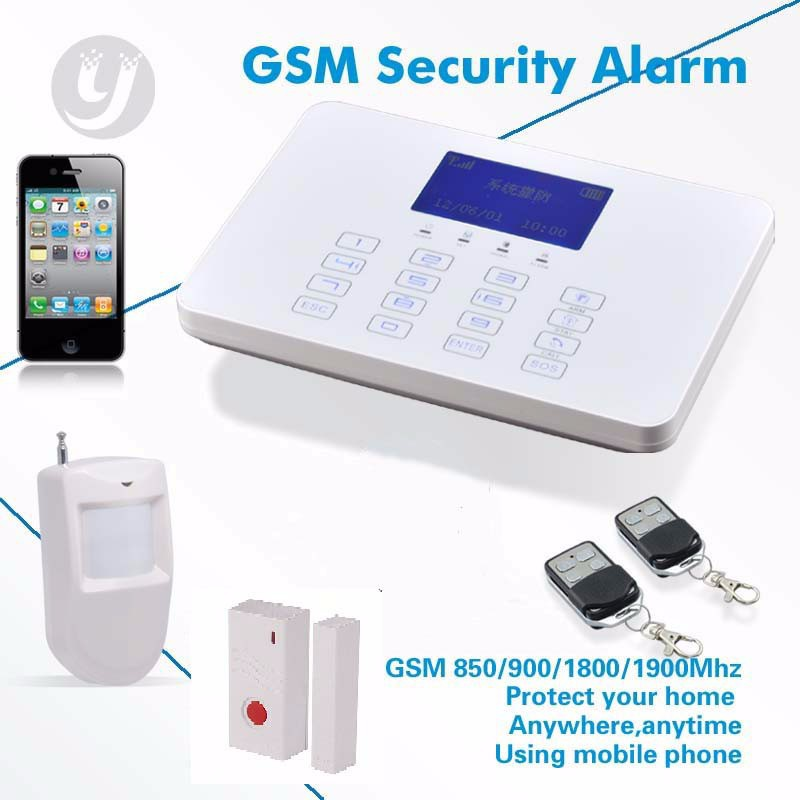 wireless home security burglar alarm system fire alarm w external solar powered siren buy home. Black Bedroom Furniture Sets. Home Design Ideas