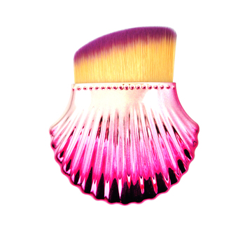Dense Synthetic Hair Bling Pink Shell Pretty Foundation Makeup Brush