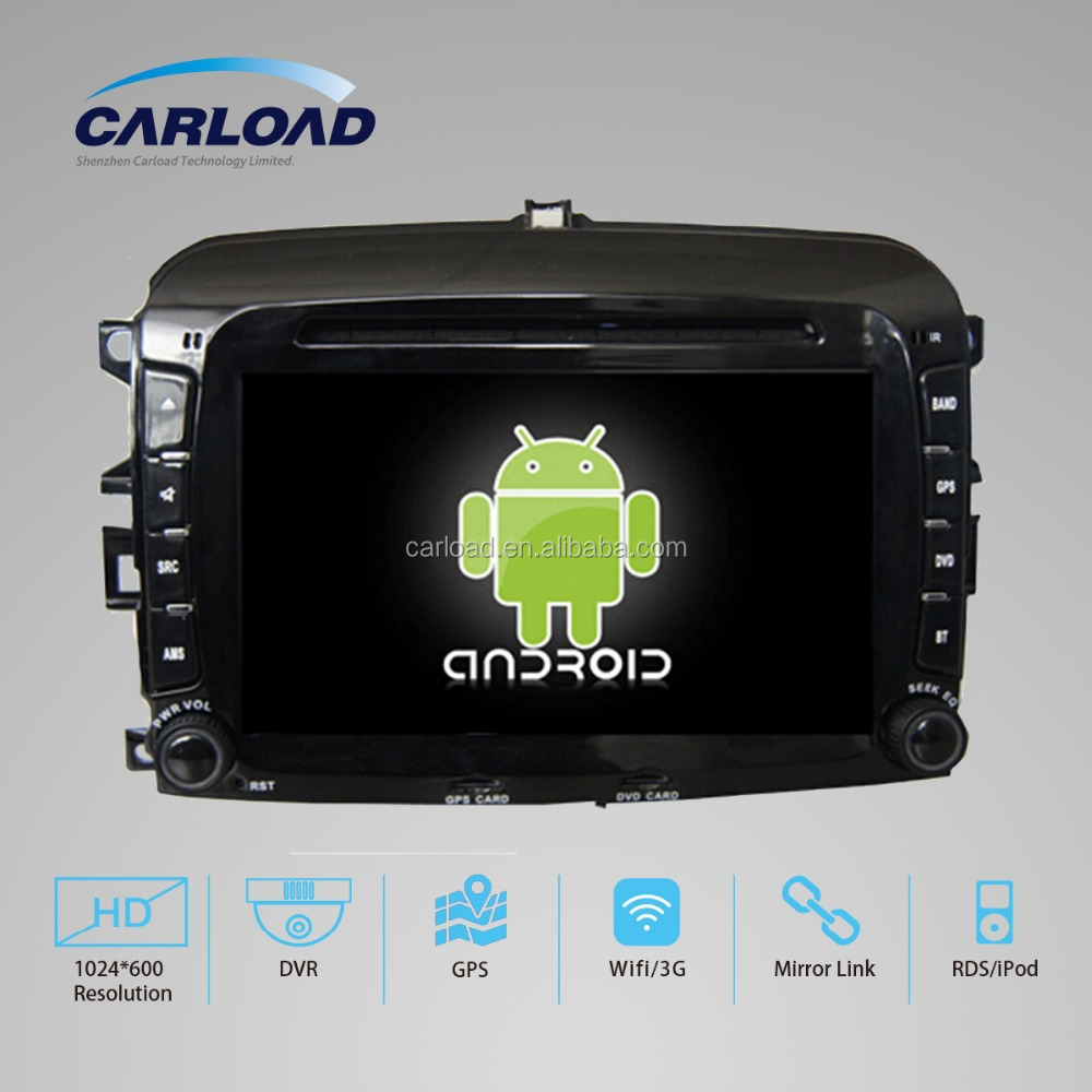 7in special Car dvd 2 Din car gps for Fiat 500 with GPS, iPOD, TV, Wifi, 3G functions