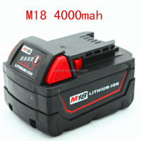 Wholesale 18v Cordless Tool Battery M18 XC 18V 4000mAh LITHIUM-ION battery for Milwaukee 48-11-1815 48-11-1828 48-11-1840 M18