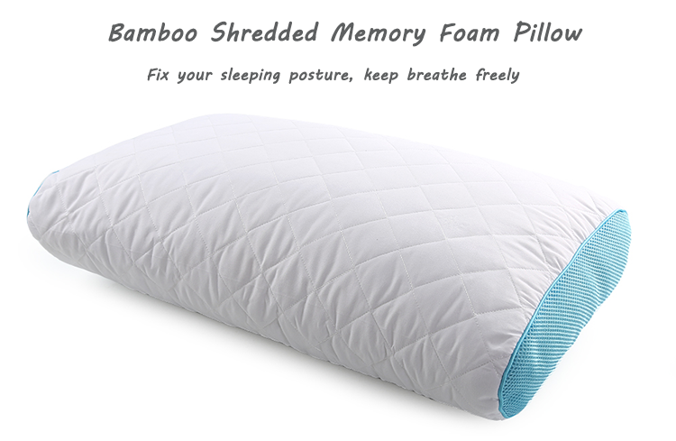 Manufacturers Custom Comfort Bed Rest Miracle Breathable Super King Queen Size Charcoal Bamboo Shredded Memory Foam Pillow