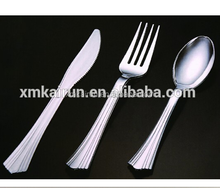Disposable Chrome Plated Cutlery Set, 3 in 1 Cutlery set