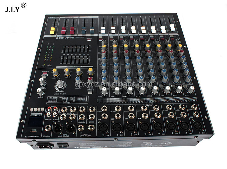 professional audio mixer console with USB MP3 8/12/16/24CH powerd mixer console