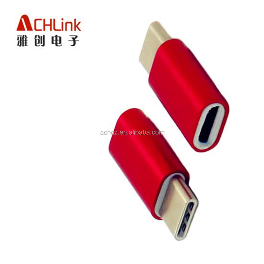 wholesale OTG CABLE Type C adapter To Micro usb Aluminiun ACHLINK Manufacturer good quality
