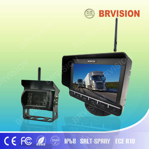 wireless reverse camera and parking sensor with rearview mirror touch button screen
