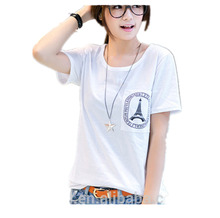 Wholesale Factory Low Price 100%Cotton Women Baggy T shirt from Factory