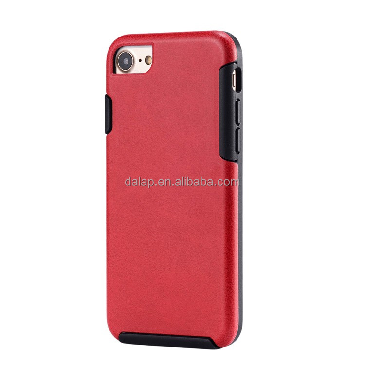 MOQ=100pcs! Newest unique custom tpu demin leather mobile phone case for iphone 7