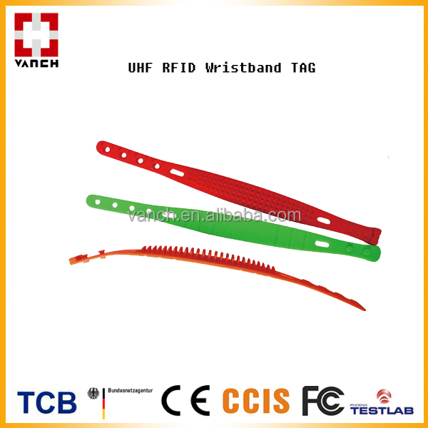 UHF silicon wristband programmable rfid tag