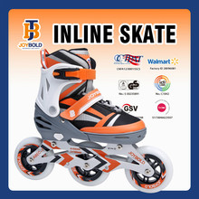 CE EN71 Approved Wholesale Inline Hockey Skates , 3 Wheel Roller Skates, Speed Skates