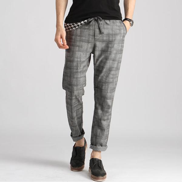 MS70210G Wholesale latest style men linen pants men's causal pant