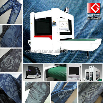 High Speed Laser Engraving Machine for Jeans