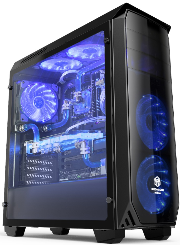 OEM New design Acrylic Micro ATX Gaming Computer Case