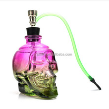 Small shape tobacco pipe colorful portable glass water smoking pipe