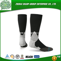 Top quality 100% Polyester Customized college american football socks