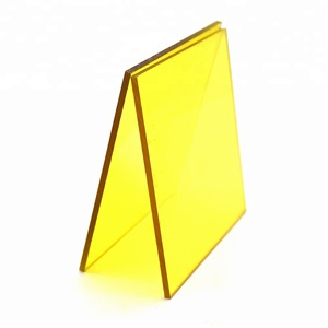 China sales hard polycarbonate facade yellow solid lexan sheet 12mm Factory price