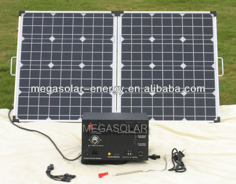 1000W no fuel Solar Power Electricity Home System