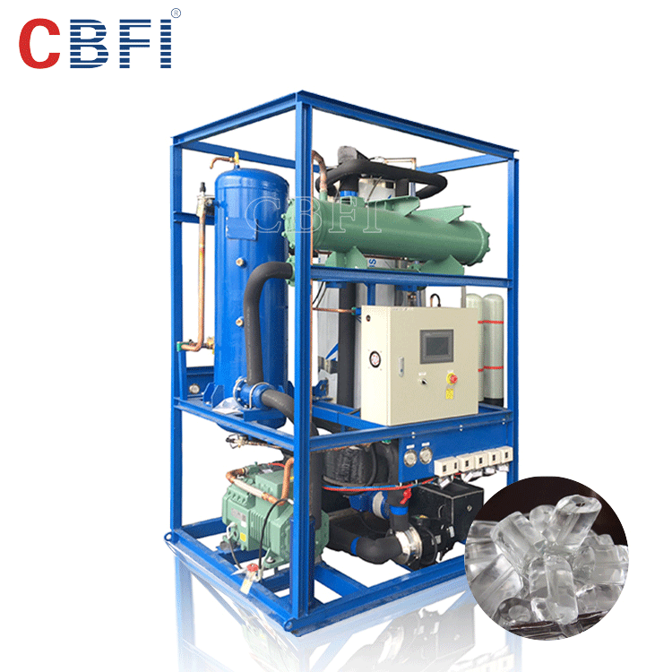 Germany brand bock compressor automatic edible tube ice making machine for philippines market