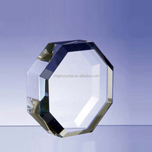Octagon Blank Optical Glass Plaque Paperweight/wholesale Wedding Favors crystal paper weight