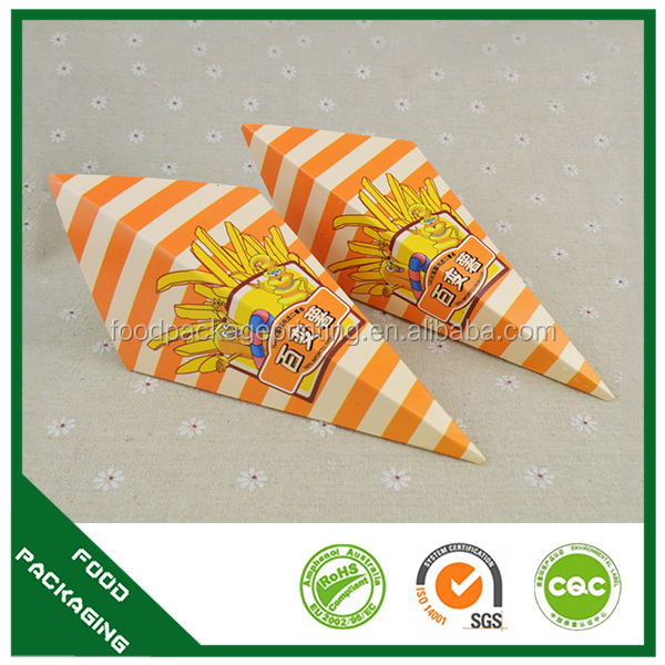 Selling well all over the world crepe holder , cone cups kraft,packaging waffles