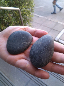 grey polished river rocks