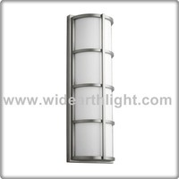 Brushed nickel long wall sconce light fixture for hotel hallway W40263