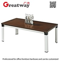 Best selling China Mainland Factory modern wooden coffee table steel structure