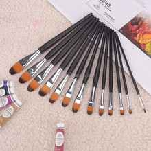 Round Flat Size 4,6,8 Kids Artist Painting brushes Watercolor Set Brush for Acrylic Oil Painting Art Face Paint Brush Suppliers